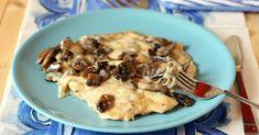 Petti+di+pollo+cremosi+ai+funghi+e+mozzarella