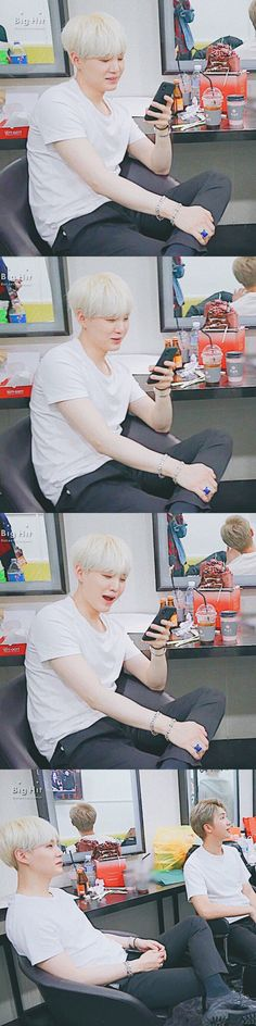 When yoongichi oppa read my message and pretend to be cool be like..  |✨180202 #SUGA ~❤️✨