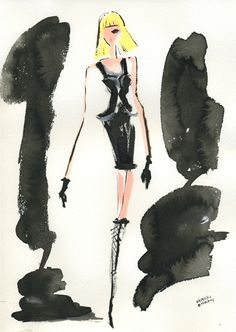 """""""Versace FALL 2012 READY-TO-WEAR""""  スペ-シーな雰囲気漂うヴェルサーチの2012年秋冬コレクション。パッツン前髪と、アイメイクの他は色味を抑えたメーキャップが、どことなくアンドロイドを思わせるモデル達。"""