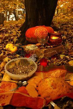 Samhain Altar Example (Samhain 2011 - Śnięty Grall - Picasa Web Albums)