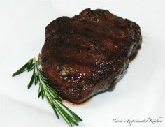Carrie's Experimental Kitchen: Balsamic Marinated Filet Mignon | Carrie's Experimental Kitchen