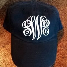 Monogrammed caps! only $16! What a deal! so many hat colors & monogram options! great for spring time or spring break!