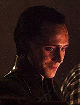 """Loki after the """"Thor"""" credits. Not okay. REALLY not okay. He's bruised and twisted and...seriously, did how could so many people miss this? The mirror isn't dirty, that's his FACE! :'("""