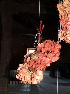 Renovando: Teñir y secar hortensias
