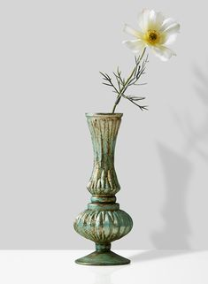 For a vintage feel, add our verdigris glass bud vases to your event centerpieces. Jamali Garden offers a large selection of wholesale vases online. Wholesale Vases, Copper Highlights, Vintage Wedding Theme, Party Centerpieces, Vases Decor, Bud Vases, Colored Glass, Green Colors, Serenity