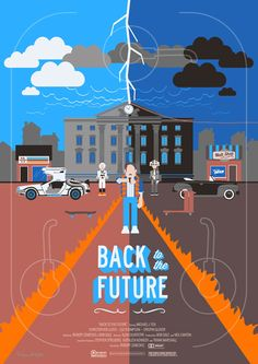 Re-imagined Back to the Future movie Cool Poster Design Inspiration