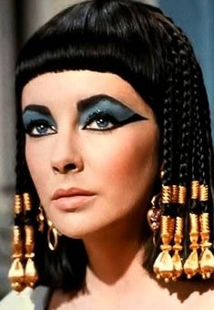 "Elizabeth Taylor as ""Cleopatra"" in the 1963 movie epic"