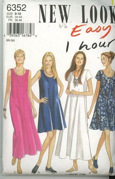 New Look 6352 1 hour Misses Dress size 8-18 UNCUT - Sewing Patterns