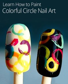 Dying for some fun, new nail design ideas? Try this cool abstract design on your nails!
