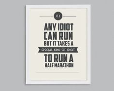 running quote pictures | ... Marathon Retro Print - Typographic Inspirational Running Quote - 8x10