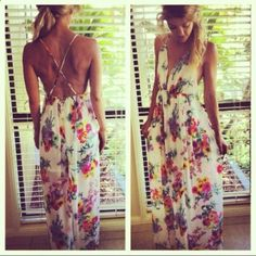 Beach Wedding Casual - Floral Maxi Dress