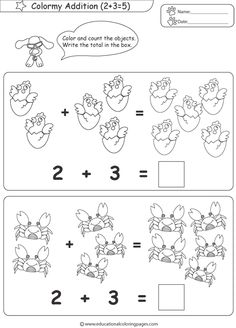 Addition Worksheets for Preschoolers