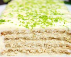 Receita de Pavê de Limão Cookie Jars, Mole, I Foods, Vanilla Cake, Bakery, Deserts, Appetizers, Yummy Food, Sweets