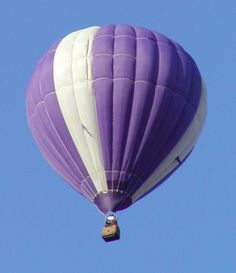 Up...up...and away in this purple hot air balloon!