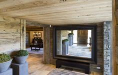 Chalet chic  - entry in French ski chalet by designer Rachel Laxer