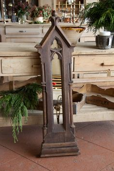 Antique Oak French Gothic Lancet Window | From a unique collection of antique and modern wall mirrors at https://www.1stdibs.com/furniture/mirrors/wall-mirrors/