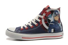 Captain America The Avengers Converse Limited Shoes Red
