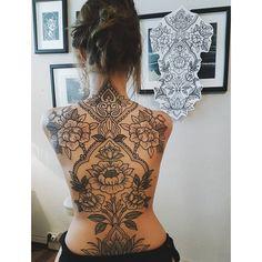 back tattoo from ponybarker tattoed by Jule Funk Leipzig Germany. Back tattoo. M… back tattoo from ponybarker tattoed by Jule Funk Leipzig Germany. Back tattoo. Mehndi Tattoo, Lotusblume Tattoo, Backpiece Tattoo, Cover Tattoo, Piercing Tattoo, Henna Back Tattoos, Nose Piercings, Irezumi Tattoos, Back Tattoo Women Full