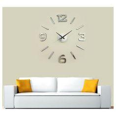 Nástěnné hodiny stříbrná, pr. 60 cm | 4Home - pohodlí domova Diy Clock, Cladding, Peru, Home Decor, Turkey, Decoration Home, Room Decor, Home Interior Design, Home Decoration