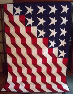 Brick Cottage Quilts - Home Blue Quilts, Star Quilts, Easy Quilts, Scrappy Quilts, Quilting Projects, Quilting Designs, Quilting Ideas, Sewing Projects, American Flag Quilt