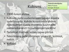 Taidehistoria - Kubismi. Diy And Crafts, Arts And Crafts, Georges Braque, Cubism, Pablo Picasso, Teaching Art, Art History, Personalized Items, School