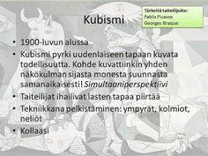 Taidehistoria - Kubismi.