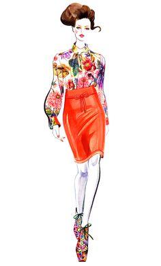 illustrations by sunny gu | Sunny Gu: WEDNESDAY ILLUSTRATION: PREEN FALL 2012 RTW | MIERCOLES ...