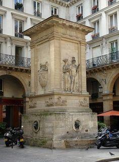 Fontaine de Mars (fontaine du Gros Caillou), située au 129 rue Saint ...