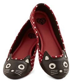Up Your Alley Cat Flat in Dots