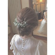 Unicra Silvery Wedding Hair Combs with Bead and Rhinestones - Bridal Headpiece for Bridesmaids(silvery) - Ideal Wedding Ideas Hairdo Wedding, Hair Comb Wedding, Wedding Hair And Makeup, Bridal Makeup, Bridal Hair, Hair Makeup, Romantic Hairstyles, Dress Hairstyles, Bride Hairstyles