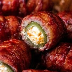 Bacon Wrapped Armadillo Eggs are like a jalapeno popper meatball mashup. Filling enough to be a main dish, but portable enough to make as appetizers. Pellet Grill Recipes, Grilling Recipes, Grilling Tips, Meat Appetizers, Appetizer Recipes, Bbq Seasoning, Smoking Recipes, Smoking Meat, Egg Recipes