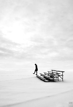 ♂ Black and white photography  Solitude