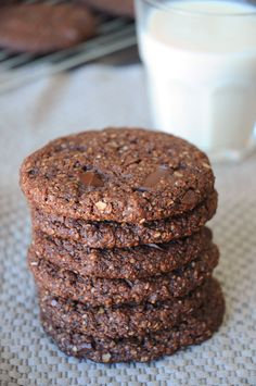 Mind Blowing Chocolate Chunk Oatmeal Cookies ~ If you're craving chocolate, this recipe is for you, my friend. These cookies come together so quickly and easily and they are loaded with chocolate! Ooey gooey delicious chocolate. Enjoy!
