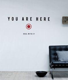 You Are Here sticker Seinätarra