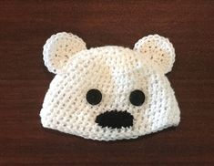 Crochet Infant Hat and Booties Set - Polar Bear Baby Hat - Bear Bootie Set  - Polar Bear Hat for Toddler - Knit Toddler Hat - Baby Gift. Sombreros ... 30e62a1e5ef