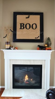 Whats Ur Home Story: Simple Fall Mantel