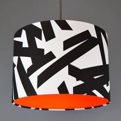 Monochrome Lampshade With Choice Of Neon Lining