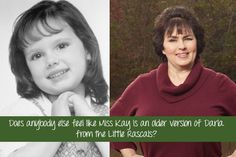 separated at birth - Miss Kay and Darla from The Little Rascals Robertson Family, Phil Robertson, Duck Dynasty Family, Miss Kays, Duck Calls, Duck Commander, Childhood Photos, That Way, True Stories