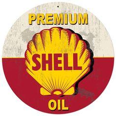 Shell Motor Oil Grunge Advertising Sign 28 x 28 Vintage Replica USA Made Steel Vintage Style Retro Gas Oil Garage Art Wall Decor  SHL232 by HomeDecorGarageArt on Etsy