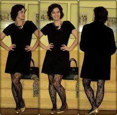 vitrine @ugust@ looks   por leila diniz: 2º MAXICOLAR CHIQUE (rs)+look preto/dourado/onça e meia rendada+msg: Senhor, ensina-nos a procurá-lo.