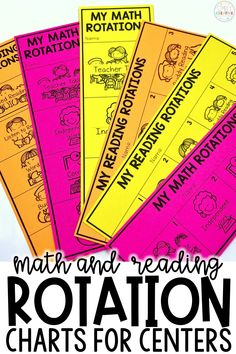 Organization for your math rotations and reading rotations is easy with these mini student rotation charts. Plan the schedule & stations. Use with Daily Five, M.A.T.H Workshop, guided reading, guided math, or math workshop. Edit the rotation charts in Powerpoint. Works great for kindergarten, 1st, 2nd, 3rd, and 4th grade!