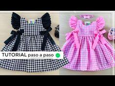Tunic Sewing Patterns, Baby Clothes Patterns, Doll Dress Patterns, Clothing Patterns, Frocks For Girls, Kids Frocks, Dresses Kids Girl, Fashion Sewing, Kids Fashion