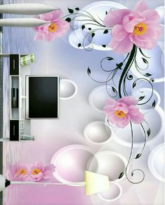 """Glimpse into Clear Spring and Flowers out of Open Window Canvas 24/"""" x 36/"""""""