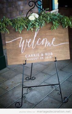 Panneaux bienvenue mariage lettre calligraphie jolie 2