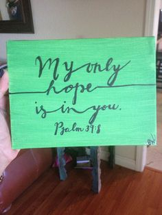Psalm 398 on 5x7 Canvas by Biblebyhand on Etsy, $15.00