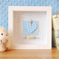 Personalised Blue Heart Frame