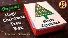 How to make a 6-fold Magic Christmas Tree, how to turn it into a lid for a gift box, and how to make the gift box! I decorated the tree in the thumbnail with...