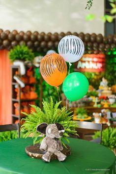 centro de mesa tematico safari