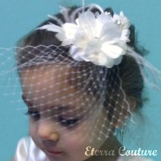 Couture Feather Flower Girl Feather Dress White by EterraCouture