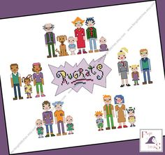 Today's featured #crossstitch pattern: Relieve the adventures of Tommy, Chuckie, Angelica, #Phil, #Lil, Dil, Susie, Kimi and their families with this counted cross stitch pattern of the full cast of Rugrats. Stit... #rugrats #lil #phil #nikelodian ➡️ http://etsy.me/2ldY0UT